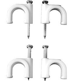 Edm grapa blanca cable manguera tubular 2x1,5 nº 7 (caja 100uni) 8425998480078 - 48007 #19