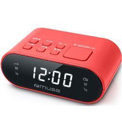 Muse M-10 RED m-10 rojo radio despertador fm con altavoz integrado - +21465