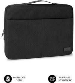 Todoelectro.es SUB-MAL LS-0TS0001 maletín subblim elegant laptop sleeve para portátiles hasta 14''/ negro sub-ls-0ts0001 - SUB-M