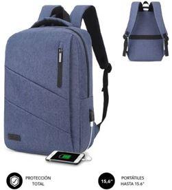 Todoelectro.es SUB-MOCHI BP-2BL2001 mochila subblim city backpack para portátiles hasta 15.6''/ puerto usb/ azul sub-bp-2bl2001