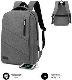Todoelectro.es SUB-MOCHI BP-2BL2000 mochila subblim city backpack para portátiles hasta 15.6''/ puerto usb/ gris sub-bp-2bl2000