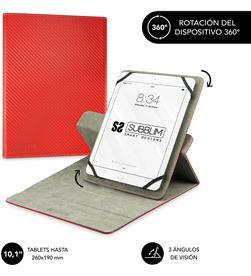 Todoelectro.es SUB-FUNDA CUT-3RE002 funda universal subblim rotate 360º para tablet hasta 10.1''/25.6cm red - ro sub-cut-3re002