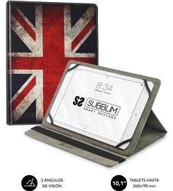 Todoelectro.es SUB-FUNDA CUT-4TC006 funda universal subblim trendy england para tablet hasta 10.1''/25.6cm - rot sub-cut-4tc006