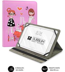 Todoelectro.es funda universal subblim trendy fashion girls para tablet hasta 10.1''/25.6cm sub-cut-4tc004 - SUB-FUNDA CUT-4TC00