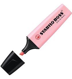 Todoelectro.es marcador fluorescente punta biselada - color rubor rosa - stabilo boss orig 70/129 - STA-BOSS PASTEL ROSA