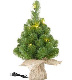 Black mini arbol de navidad 10 led y 25 ramas 8718861822267 - 72186