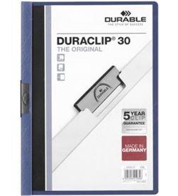 Todoelectro.es dossier a4 pinza 30 hojas azul oscuro duraclip durable 142200-07 - DUR-DOSSIER A4 AZUL