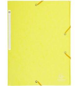 Todoelectro.es carpeta de gomas de carton a4 - amarillo limon - 3 solapas - hasta 150 hoja exa17113h - EXA17113H
