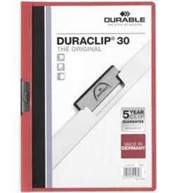Todoelectro.es dossier a4 pinzas 30 hojas rojo duraclip durable 142200-03 - DUR-DOSSIER A4 ROJO