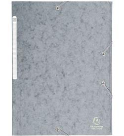 Todoelectro.es carpeta de gomas de carton a4 - gris - 3 solapas - hasta 150 hojas de 80 gr exa17110h - EXA17110H