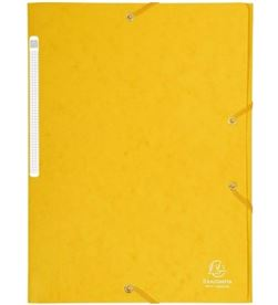 Todoelectro.es carpeta de gomas de carton a4 - amarillo - 3 solapas - hasta 150 hojas de 8 exa17106h - EXA17106H