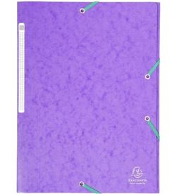 Todoelectro.es carpeta de gomas de carton a4 - violeta - 3 solapas - hasta 150 hojas de 80 exa17115h - EXA17115H