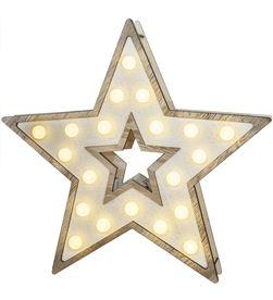 Edm estrella madera 20leds 25,5x27,2cm 3xaa 8425998717396 - 71739