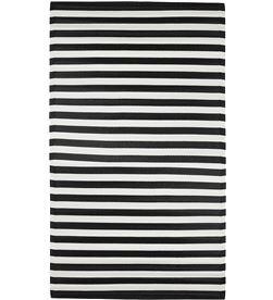 Mica alfombra para exterior color negro modelo rallas 180x120cm polipropileno 8718861760514 - 68062