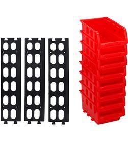 Kinzo set de 8 mini gavetas apilables 12x10cm 8711252068282 - 08171