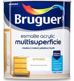 Bruguer esmalte acrylic multisuperficie satinado blanco permanente 0,750l 8429656121877 - 25021