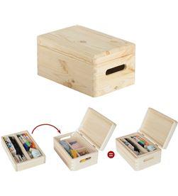 Astigarra caja de pino con organizador y tapa embalada 30x20x14cm ga 8422341399278 - 75257