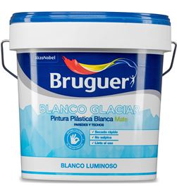 Bruguer pintura plástica interior blanco glaciar mate 4l 8429656013325 - 25032