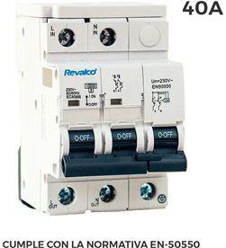 Revalco iga 2p 40a c 10ka prot.sobretension permanente segun normativa en-50550 y t 8033032224467 - 02515