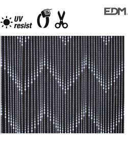 Edm cortina perla blanca plastico 90x200cm 48 tiras 8425998759648 - 75964