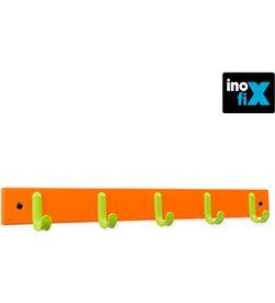 Inofix colgador 5 ganchos madera verde-naranja (blister) 8414419012530 - 66696