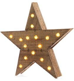 Lumineo estrella de madera con luz 20 leds 6,5x40x39cm 8718532388948 - 71737