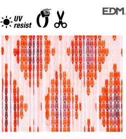 Edm cortina cadena rombos plastico 90x210cm 33 tiras 8425998759600 - 75960