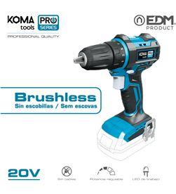 Koma taladro atornillador 20v brushless (sin bateria y cargador) portabrocas ø10 8425998087512 - 08751