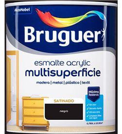 Bruguer esmalte acrylic multisuperficie satinado negro 0,750l 8429656123918 - 25016