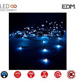Edm cortina easy-connect 2x1mts 10 tiras 100 leds azul 30v (interior-exterior) 8425998712599 - 71259
