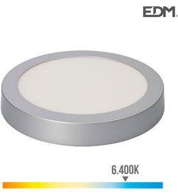 Edm downlight led superficie 20w 1500 lumens 6.400k luz fria cromo mate 8425998315967 - 31596