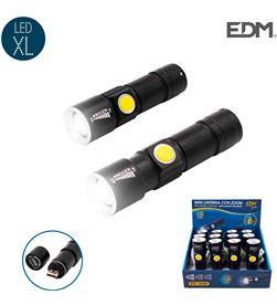 Edm mini linterna con zoom 1 led 120 lumens recargable con usb bateria de litio 8425998363883 - 36388