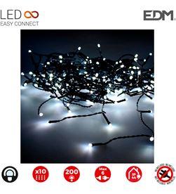 Edm cortina easy-connect 2x2mts 10 tiras 200 leds blanco frio 30v (interior-ext 8425998712629 - 71262