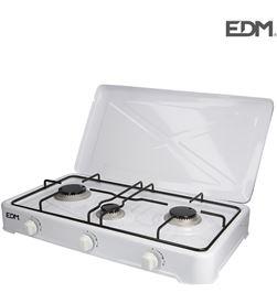 Edm cocina de gas - esmaltada - 3 fuegos - 8425998074215 - 07421