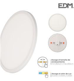 Edm s.of. downlight led marco blanco 20w regul. tamaño emp. y tipo luz 12 8425998316162 - 31616