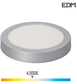Edm downlight led superficie 20w 1500 lumens 4.000k luz dia cromo mate 8425998315929 - 31592