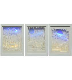 Lumineo cuadro led de papel escena navideñas (3 modelos surtidos) 8719152256693 - 72025