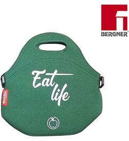 Bergner bolsa porta alimentos poliester verde modelo eat life 30x30x17cm 8435496433407 - 76996