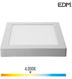 Edm downlight led superficie 20w 1500 lumens 4.000k luz dia cromo mate 8425998315936 - 31593