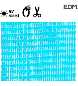 Edm cortina ovalos azul plastico 90x210cm 72 tiras 8425998759525 - 75952