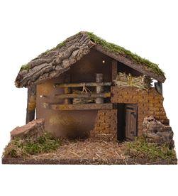 Decoris casa para belen con led y musgo 30x17x21cm 8720093394375 - 72276
