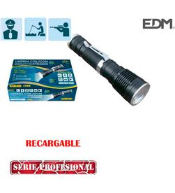 Edm linterna mini con zoom recargable 1 superled cree xml-t6 10w 8425998361155 - 36115