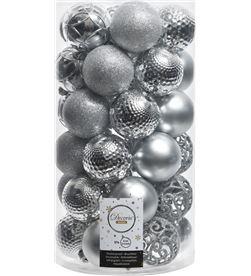 Decoris tubo de 37 bolas plateadas decorativas para arbol de navidad 8719152496662 - 71867