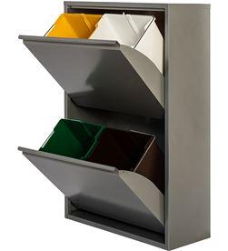 No armario metalico reciclaje 4 cajones gris 8027410001122 - 77013