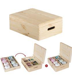 Astigarra caja de pino con organizador y tapa embalada 40x30x14cm ga 8422341399285 - 75258
