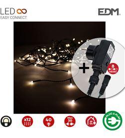Edm cortina icicle con programador easy-connect 2mtsx0,5mts 12 tiras 40leds bla 8425998714838 - 71483