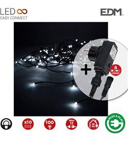 Edm cortina con programdor easy-connect 2x1mts 10 tiras 100 leds blanco frio e 8425998714807 - 71480