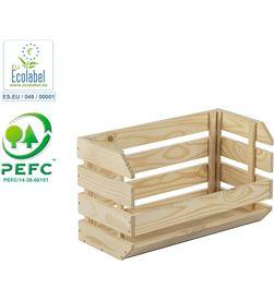 Astigarraga caja apilable evolution 60x28,5x35,3 cm pino sin barniz 100% pefc cert asti 8422341399315 - 75253