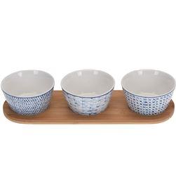 Excellent set de 3 recipientes de ceramica con base 8719202931723 - 76497