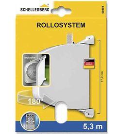 Schellenberg recogedor exterior abatible 34x188x156mm marron giratorio 180º 4003971508038 - 87053
